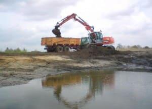 uitgraven poel